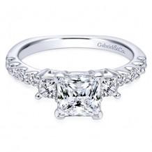 14k White Gold Gabriel & Co. 0.51ct Diamond Engagement Ring