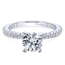 14k White Gold Gabriel & Co. 0.38ct Diamond Engagement Ring