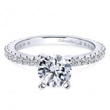 14k White Gold Gabriel & Co. 0.38ct Diamond Engagement Ring