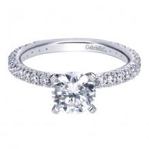 14k White Gold Gabriel & Co. 0.42ct Diamond Engagement Ring