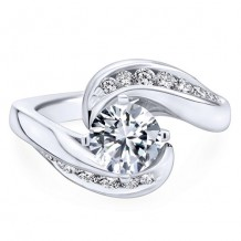 14k White Gold Gabriel & Co. 0.55ct Diamond Engagement Ring