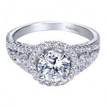 14k White Gold Gabriel & Co. 0.48ct Diamond Engagement Ring