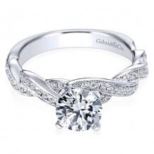 14k White Gold Gabriel & Co. 0.29ct Diamond Engagement Ring