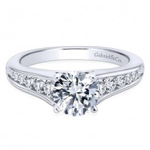 14k White Gold Gabriel & Co. 0.49ct Diamond Engagement Ring