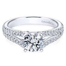 14k White Gold Gabriel & Co. 0.40ct Diamond Engagement Ring