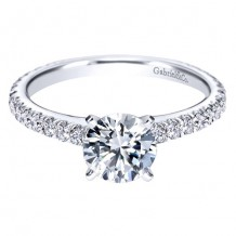 14k White Gold Gabriel & Co. 0.47ct Diamond Engagement Ring