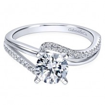14k White Gold Gabriel & Co. 0.2ct Diamond Engagement Ring