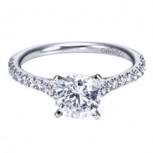 14k White Gold Gabriel & Co. 0.30ct Diamond Engagement Ring