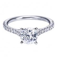 14k White Gold Gabriel & Co. 0.30ct Diamond Engagement Ring