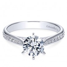 14k White Gold Gabriel & Co. 0.33ct Diamond Engagement Ring