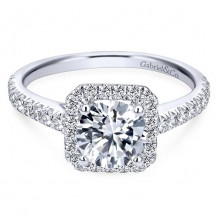 14k White Gold Gabriel & Co. 0.45ct Diamond Engagement Ring
