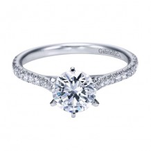14k White Gold Gabriel & Co. 0.27ct Diamond Engagement Ring