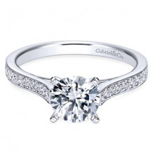 14k White Gold Gabriel & Co. 0.28ct Diamond Engagement Ring