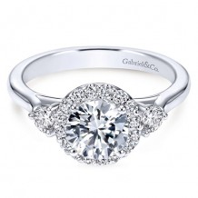 14k White Gold Gabriel & Co. 0.42ct Diamond Engagement Ring