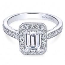 14k White Gold Gabriel & Co. 0.52ct Diamond Engagement Ring