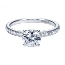 14k White Gold Gabriel & Co. 0.25ct Diamond Engagement Ring