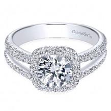 14k White Gold Gabriel & Co. 0.55ct Diamond Engagement Ring