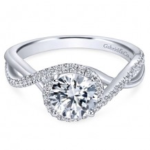 14k White Gold Gabriel & Co. 0.24ct Diamond Engagement Ring