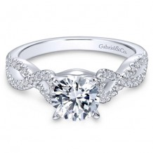 14k White Gold Gabriel & Co. 0.37ct Diamond Engagement Ring