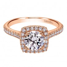 14K Pink Gold 0.39ct Diamond Engagement Ring