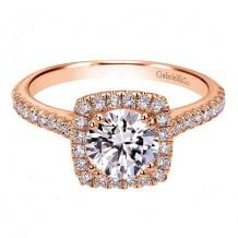 14K Pink Gold 0.39ct Diamond Engagement Ring