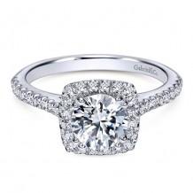 14k White Gold Gabriel & Co. 0.39ct Diamond Engagement Ring