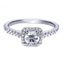 14k White Gold Gabriel & Co. 0.36ct Diamond Engagement Ring