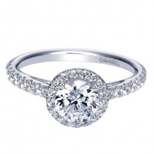 14k White Gold Gabriel & Co. 0.41ct Diamond Engagement Ring