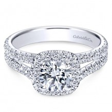 14k White Gold Gabriel & Co. 0.78ct Diamond Engagement Ring