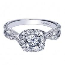14k White Gold Gabriel & Co. 0.40ct Diamond Engagement Ring