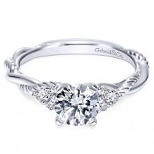 14k White Gold Gabriel & Co. 0.13ct Diamond Engagement Ring