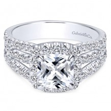 14k White Gold Gabriel & Co. 1.18ct Diamond Engagement Ring