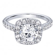 14k White Gold Gabriel & Co. 0.67ct Diamond Engagement Ring