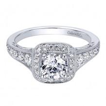 14k White Gold Gabriel & Co. 0.47ct Diamond Engagement Ring