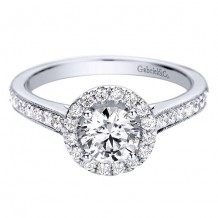 14k White Gold Gabriel & Co. 0.39ct Diamond Engagement Ring