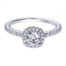 14k White Gold Gabriel & Co. 0.27ct Diamond Engagement Ring