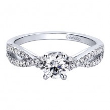 14k White Gold Gabriel & Co. 0.18ct Diamond Engagement Ring