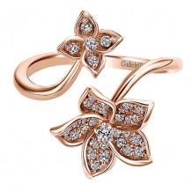 14k Rose Gold Gabriel & Co. Diamond Floral Ring
