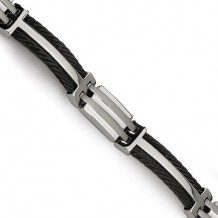 Chisel Titanium Black Plating 8.5in Bracelet