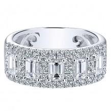 Gabriel & Co 14k White Gold 1.54ct Diamond Wedding Band