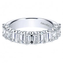 Gabriel & Co 14k White Gold 2.50ct Diamond Wedding Band