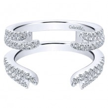 Gabriel & Co 14k White Gold 0.53ct Diamond Wedding Band