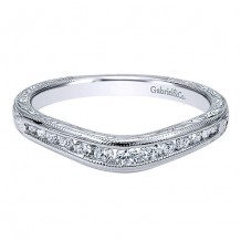 Gabriel & Co 14k White Gold 0.25ct Diamond Wedding Band