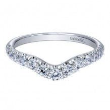 Gabriel & Co 14k White Gold 0.49ct Diamond Wedding Band