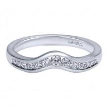 Gabriel & Co 14k White Gold 0.27ct Diamond Wedding Band