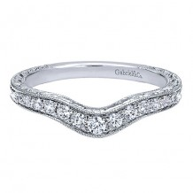 Gabriel & Co 14k White Gold 0.25ct Diamond Wedding Band