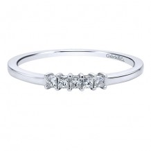 Gabriel & Co 14k White Gold 0.10ct Diamond Wedding Band