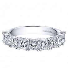 Gabriel & Co 14k White Gold 2.25ct Diamond Wedding Band
