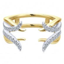 Gabriel & Co 14k Two Tone Gold 0.29ct Diamond Wedding Band