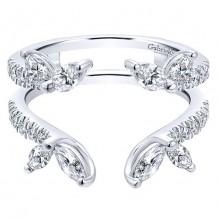 Gabriel & Co 14k White Gold 1.10ct Diamond Wedding Band